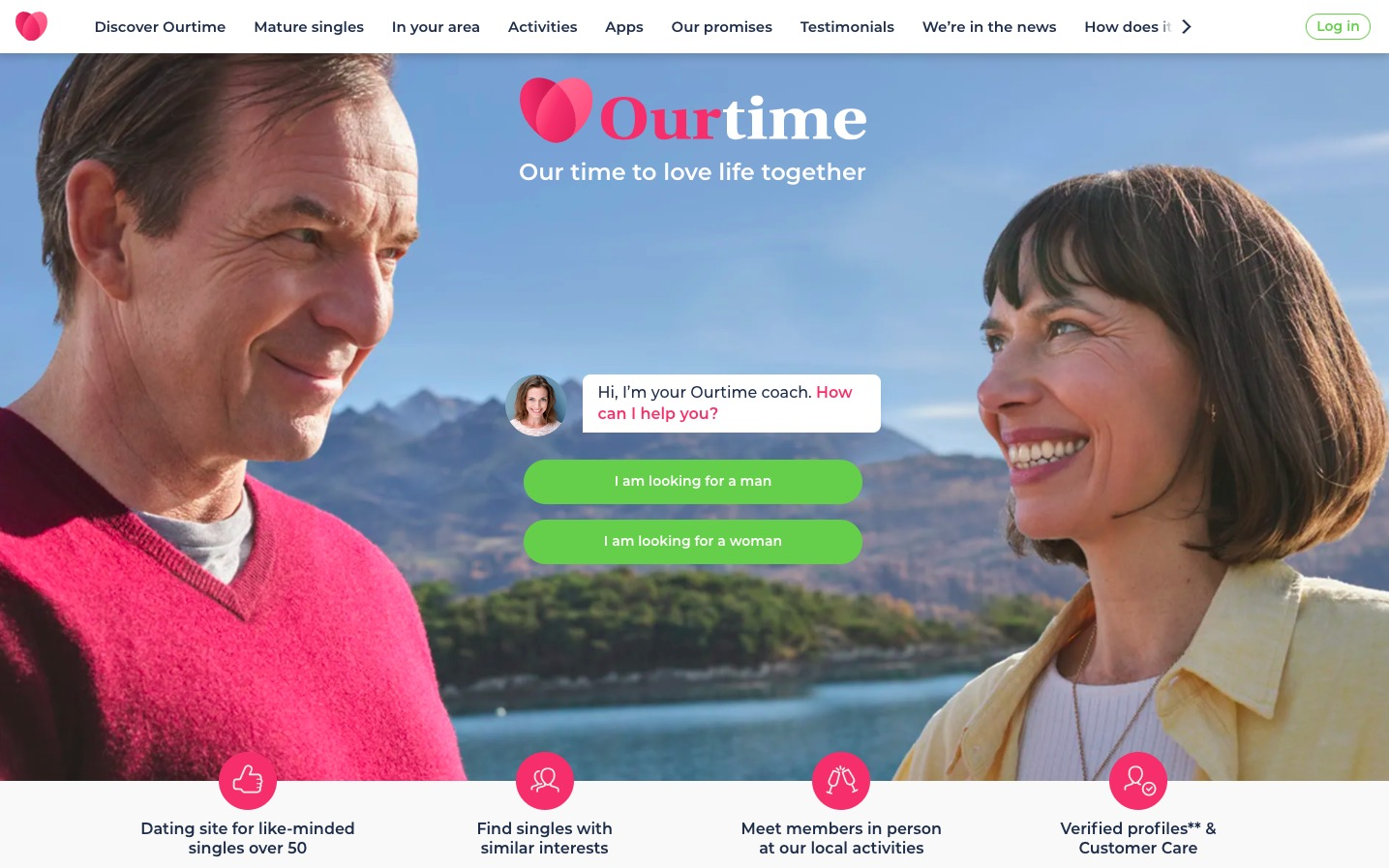 OurTime main page